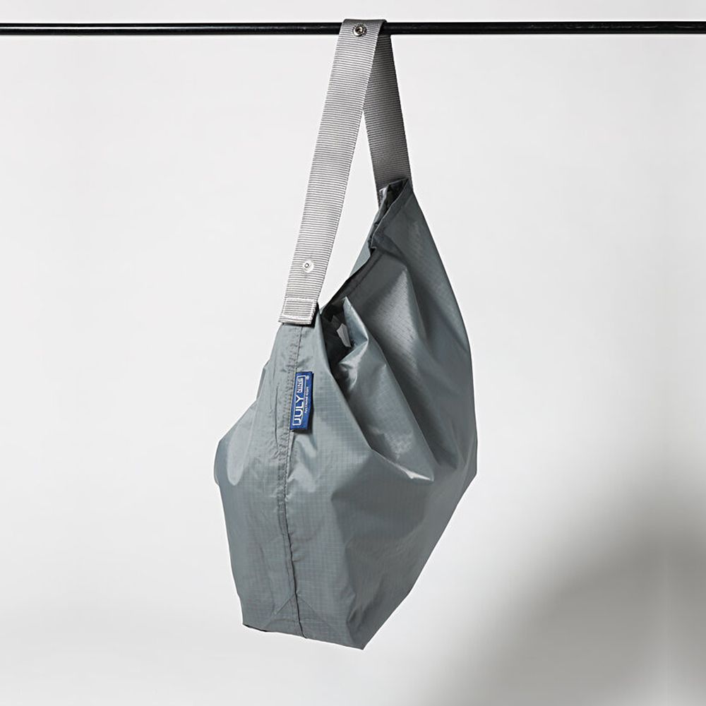 JULY NINE 壽司包 可收納式時尚托特包 (肩背/尼龍提把) 灰/灰