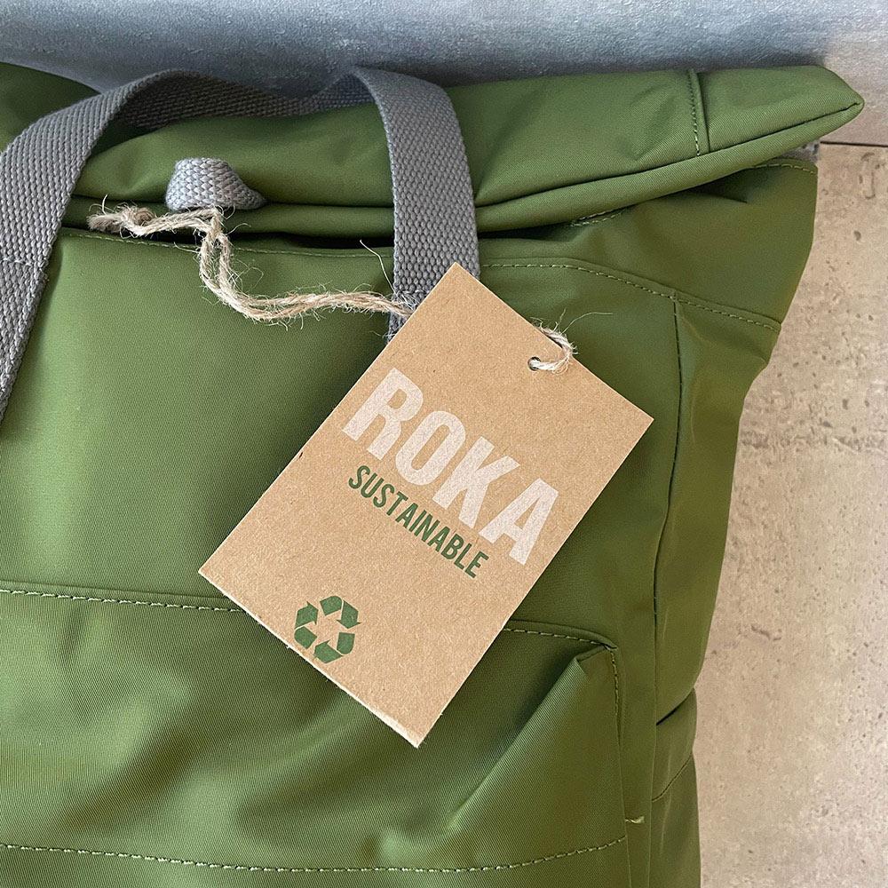 ROKA LONDON|Canfield B「通勤者」手提肩背兩用後背包(中) 酪梨綠