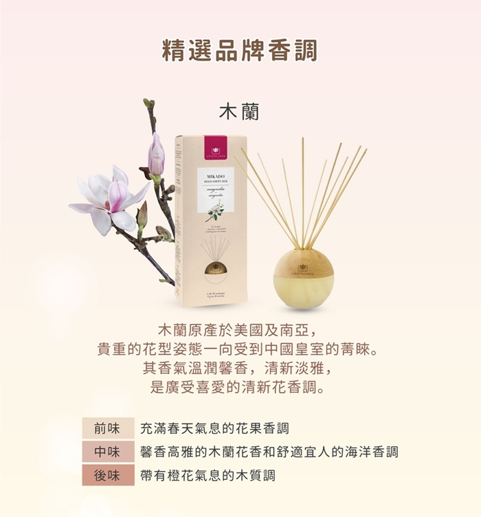 Cristalinas|居家球形植萃香氛 (180ML) - 木蘭