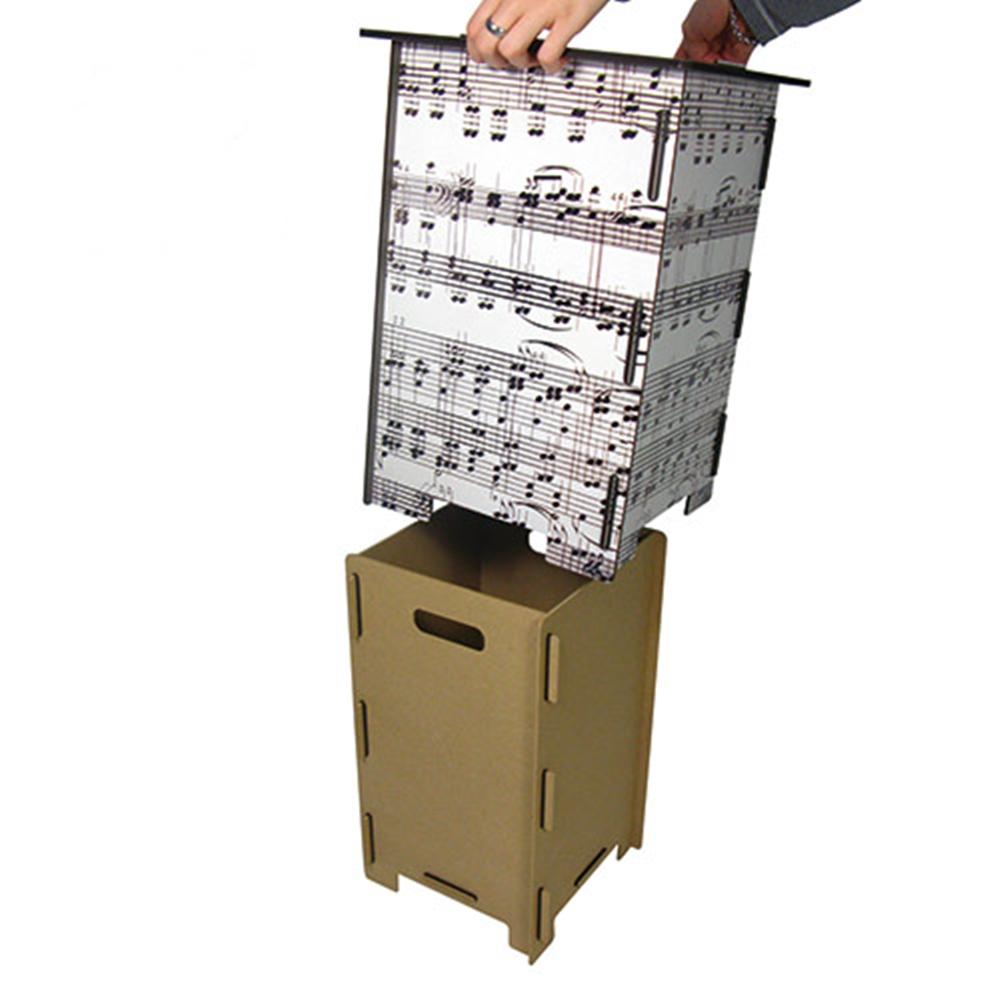 Werkhaus|彩印經典木凳儲物組(紅愛心屋)