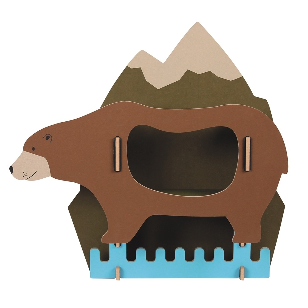 Werkhaus|Werkhaus 可愛動物壁掛配件衣架(棕熊)