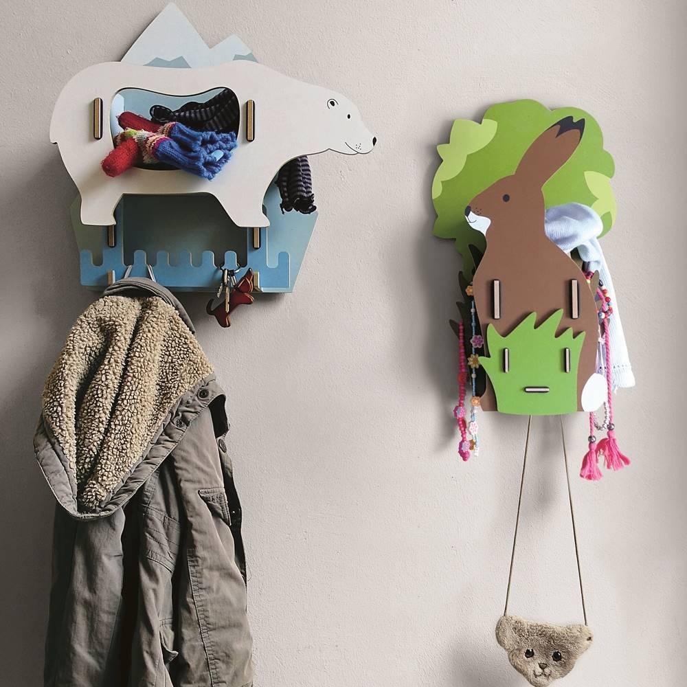 Werkhaus|可愛動物壁掛配件衣架(北極熊)