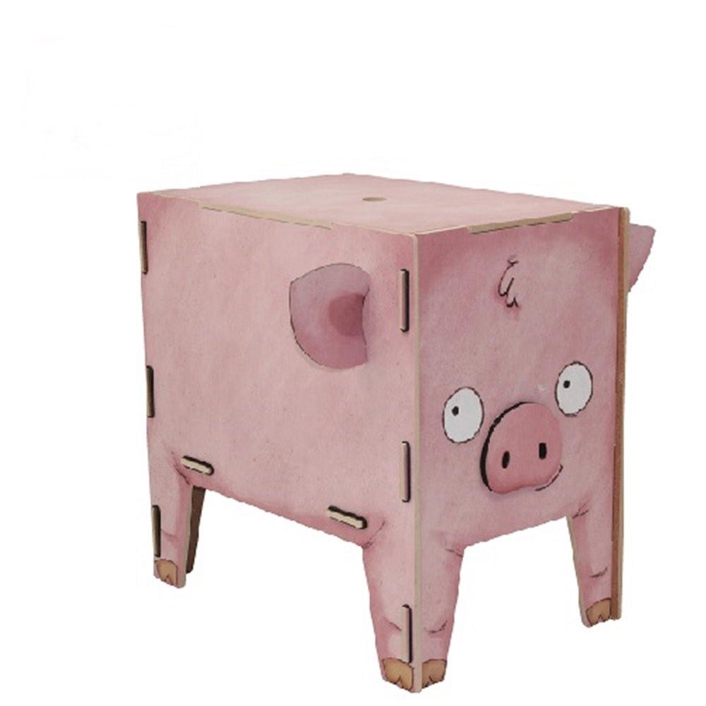 Werkhaus|童趣動物收納箱(小豬)