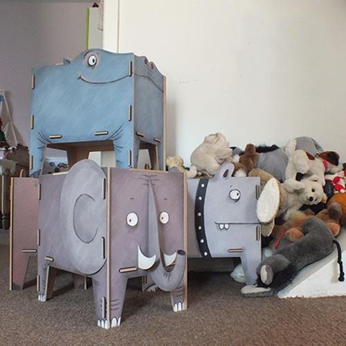 Werkhaus|童趣動物收納箱(老虎)