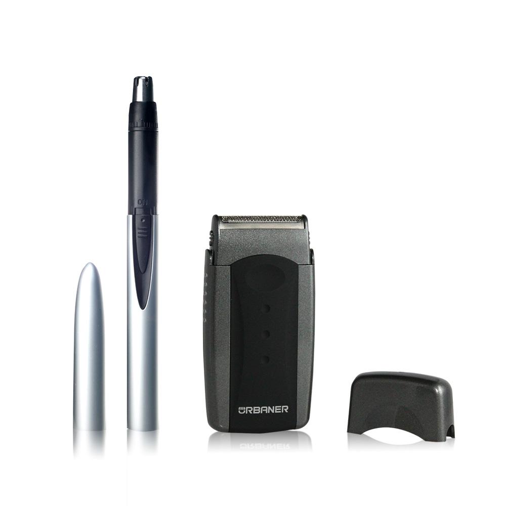 奧本 URBANER|男性修容禮盒(口袋刮鬍刀+鋼筆鼻毛刀) MB-970