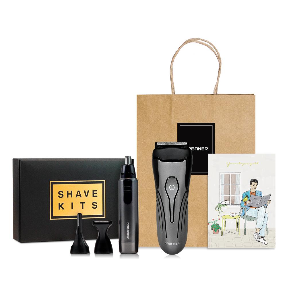 奧本 URBANER|父親節禮盒 水洗充電式刮鬍刀+防水三合一修容組 MB-343+980