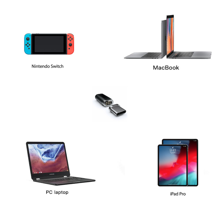 (複製)OneMore|iEasy USB-C磁吸轉接頭(純支援充電) Magnetic Adapter(銀色)
