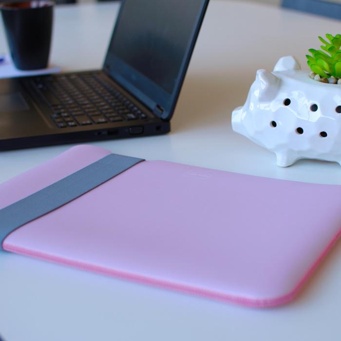 Acme Made 13''MacBook Pro/Air (USB-C)Skinny筆電包內袋 -灰/粉-SMALL
