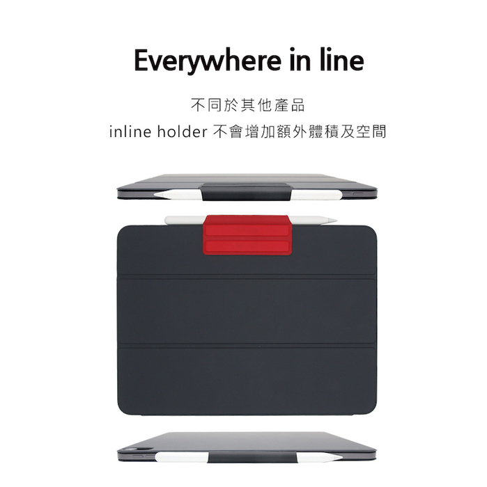All Button │ Inline Holder Apple Pencil 磁吸筆套 - 砂粉色