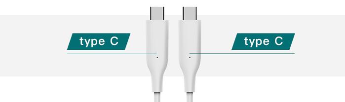 Allite 1.5米USB-C to USB-C 液態矽膠快充線 - 白