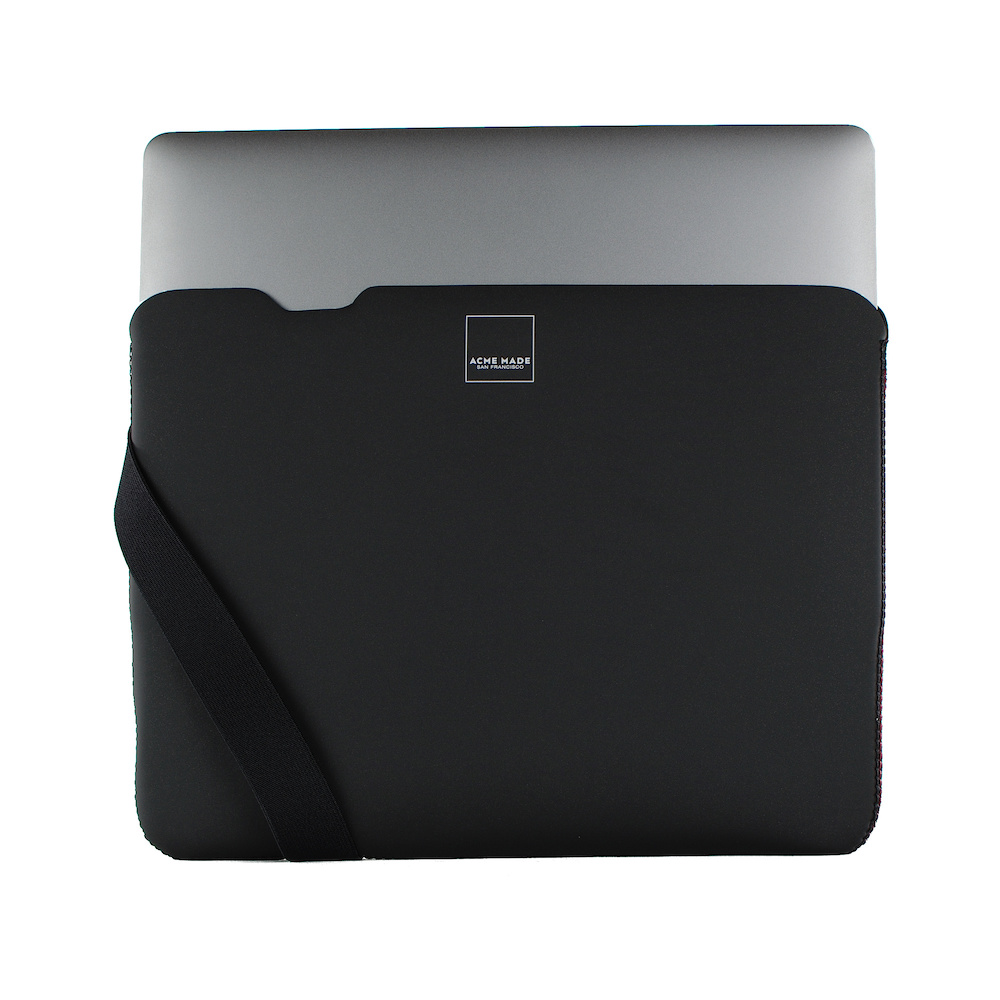 Acme Made|12''MacBook Skinny筆電包內袋 -黑/黑-XXS