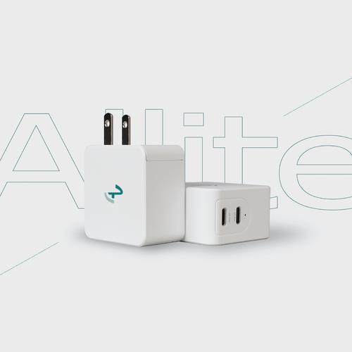 Allite 65W GaN 氮化鎵雙口 USB-C 快充充電器 - 白