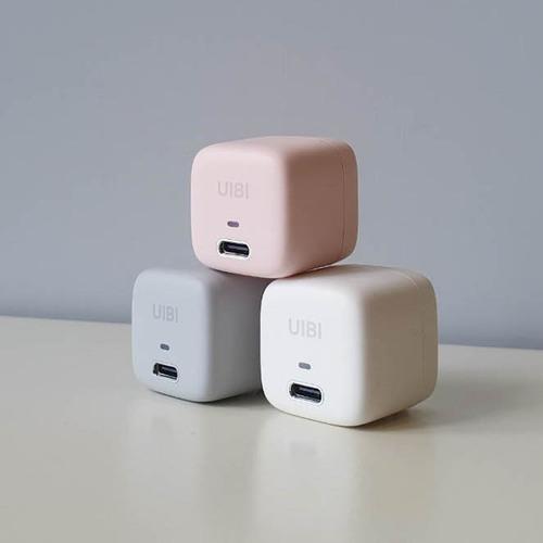 OneMore|UIBI 18W 超迷你PD快充同捆包 - 莫蘭粉