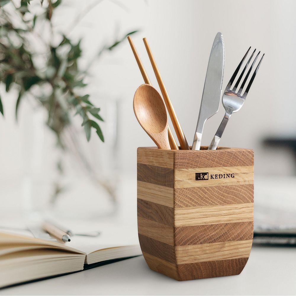 KD科定 白橡木筆筒_原木筒 乾燥花器 化妝刷筒 餐具筒 收納