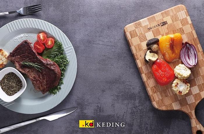 (複製)KD科定|文創小品_木餐盤_小_長型格子款深棕色_砧板、麵包盤、起司盤