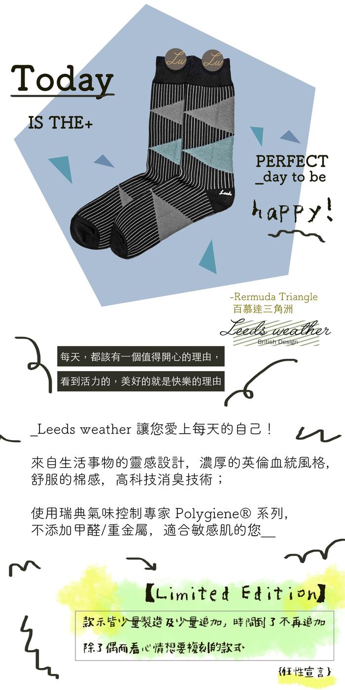 (複製)Leeds weather|Polygiene®消臭抑菌襪 ( 恐龍藍灰 )
