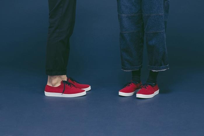 Oli13 西班牙手工帆布鞋.牛津鞋 - 紅/白
