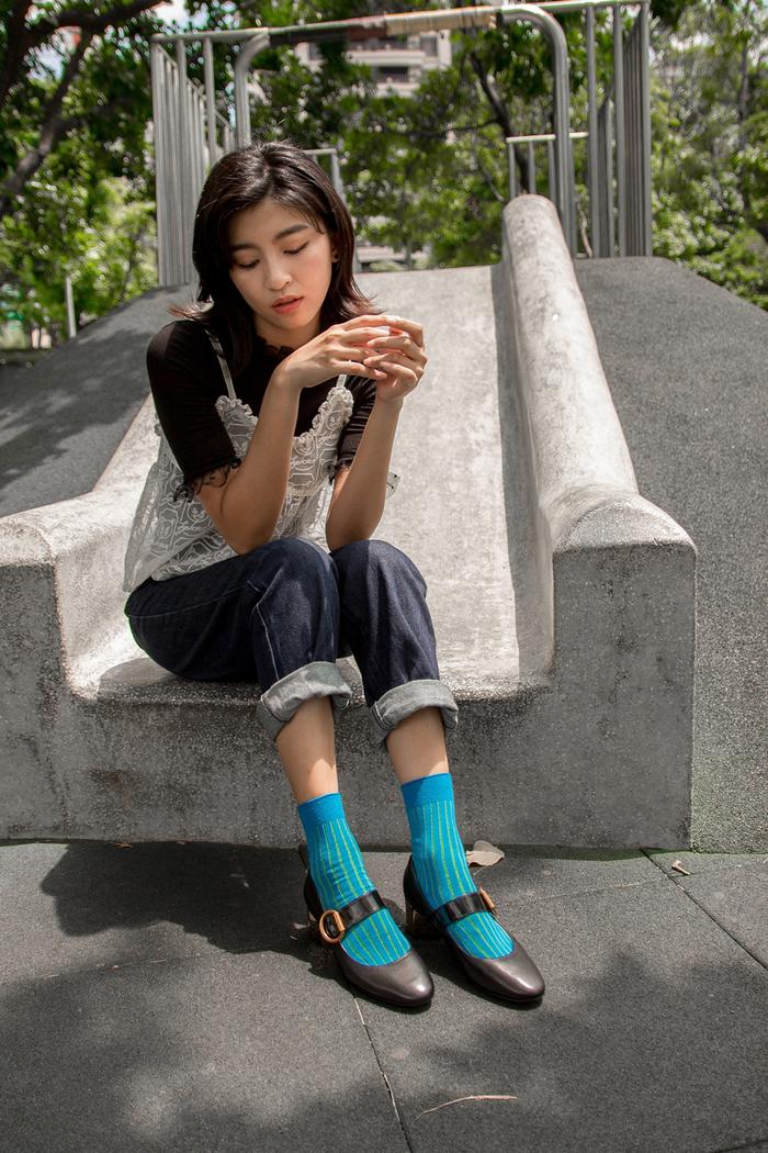(複製)Leeds weather 四季襪款 Polygiene®消臭抑菌襪 / 普魯士藍完美比例菱格紋