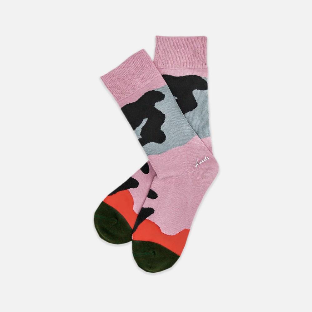 Leeds weather|四季襪款 Polygiene®消臭抑菌襪 / 英國玫瑰粉灰