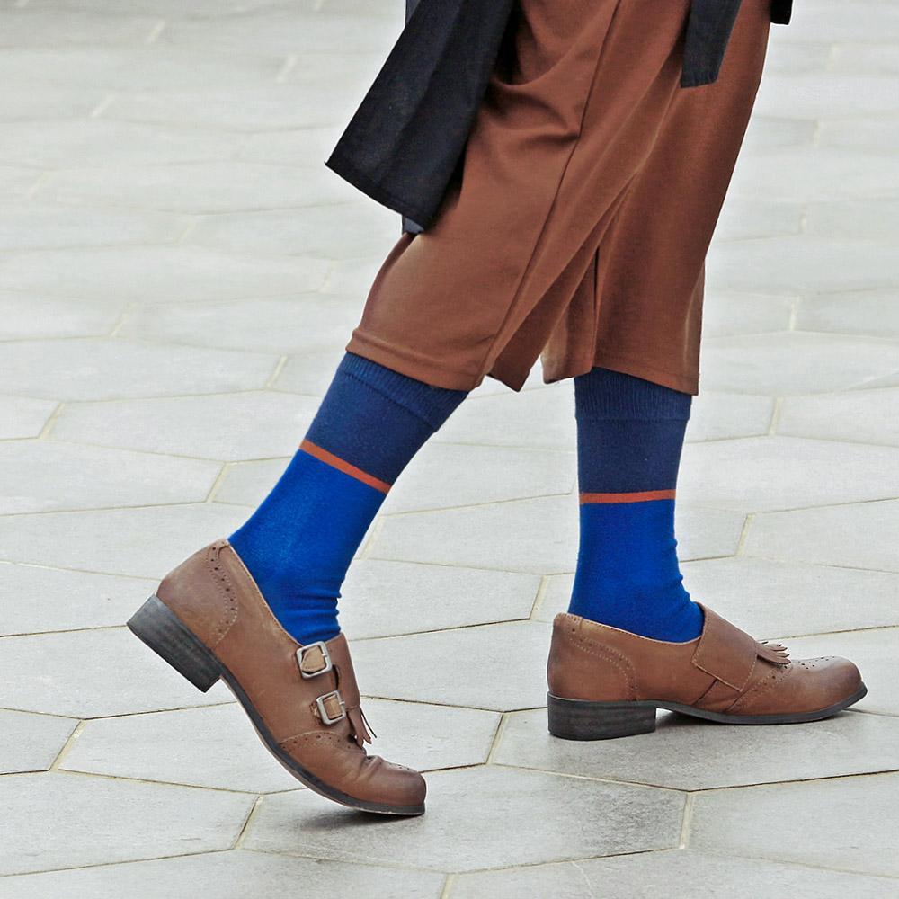 Leeds weather|Argentech™消臭抑菌襪 ( 海岸的咖啡杯藍褐 )