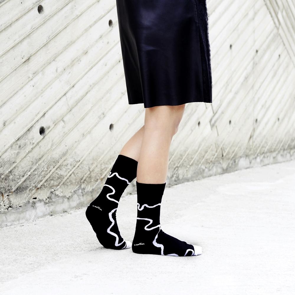 Leeds weather|四季襪款 Polygiene®消臭抑菌襪 / 黑白線條簡約