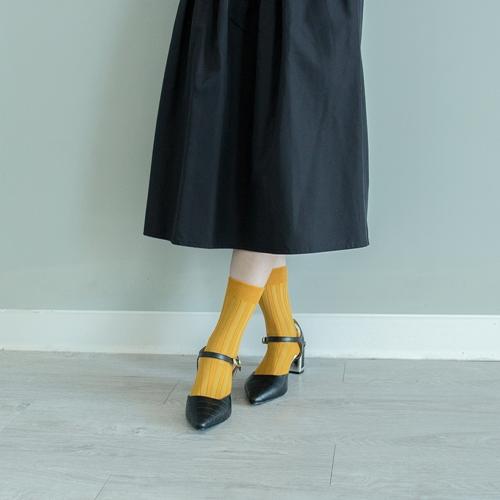 Leeds weather|機能美學羅紋襪 Polygiene®乾燥感.消臭抑菌 / 藤黃果 / 22-26cm