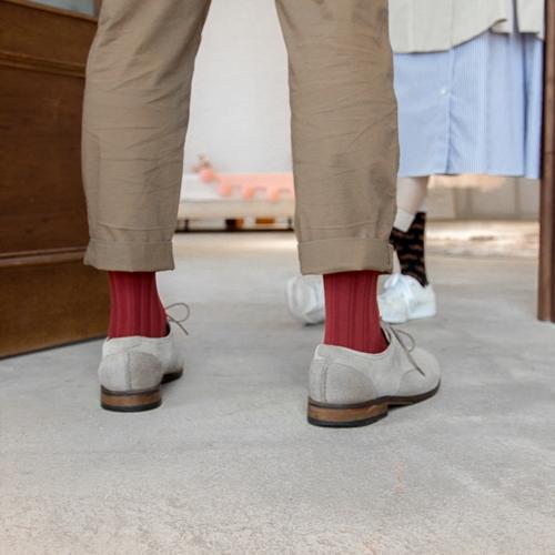 Leeds weather|機能美學羅紋襪 Polygiene®乾燥感.消臭抑菌 / 樞機紅 / 23-28cm