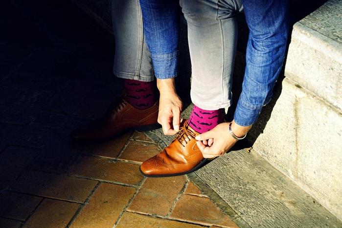 Leeds weather|四季襪款 Polygiene®消臭抑菌襪 /不敗經典花紋、酒紅翹鬍