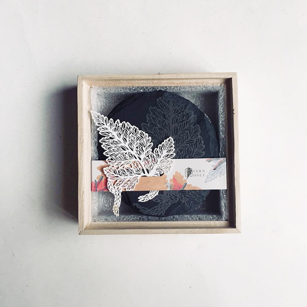 FERN ONLY|蕨類化石石皿-兔腳蕨