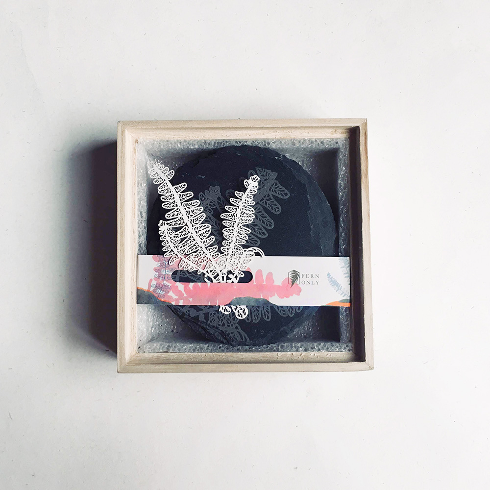 FERN ONLY 蕨類化石石皿-腎蕨