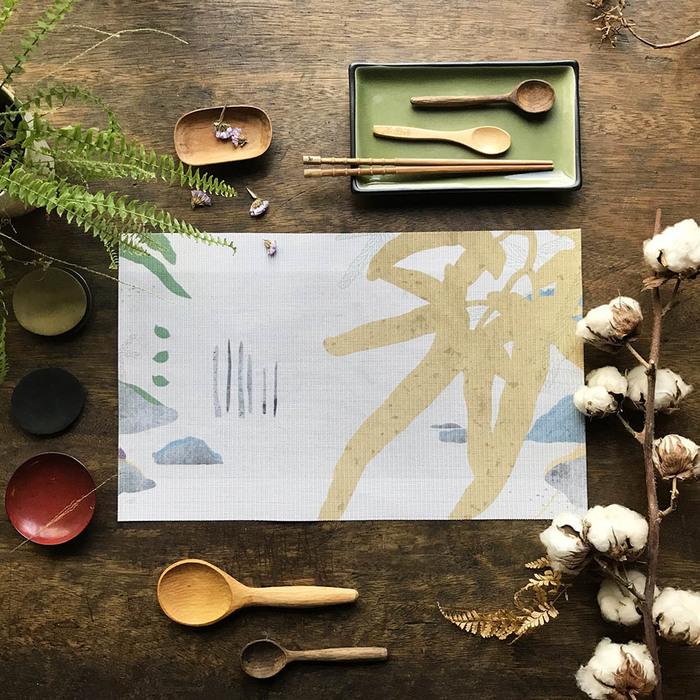 (複製)FERN ONLY|蕨類風景餐桌墊-兔腳蕨