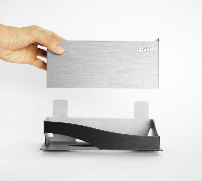 OSHI|Box Plus+面紙盒架-銀黑色(大)