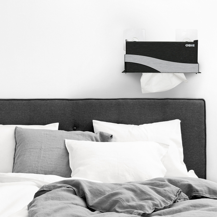 OSHI|Box Plus+ 面紙盒-黑銀色(大)