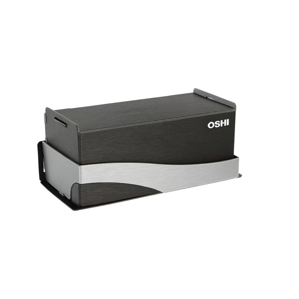 OSHI|新版Box Plus+ 面紙盒-黑銀色(大)