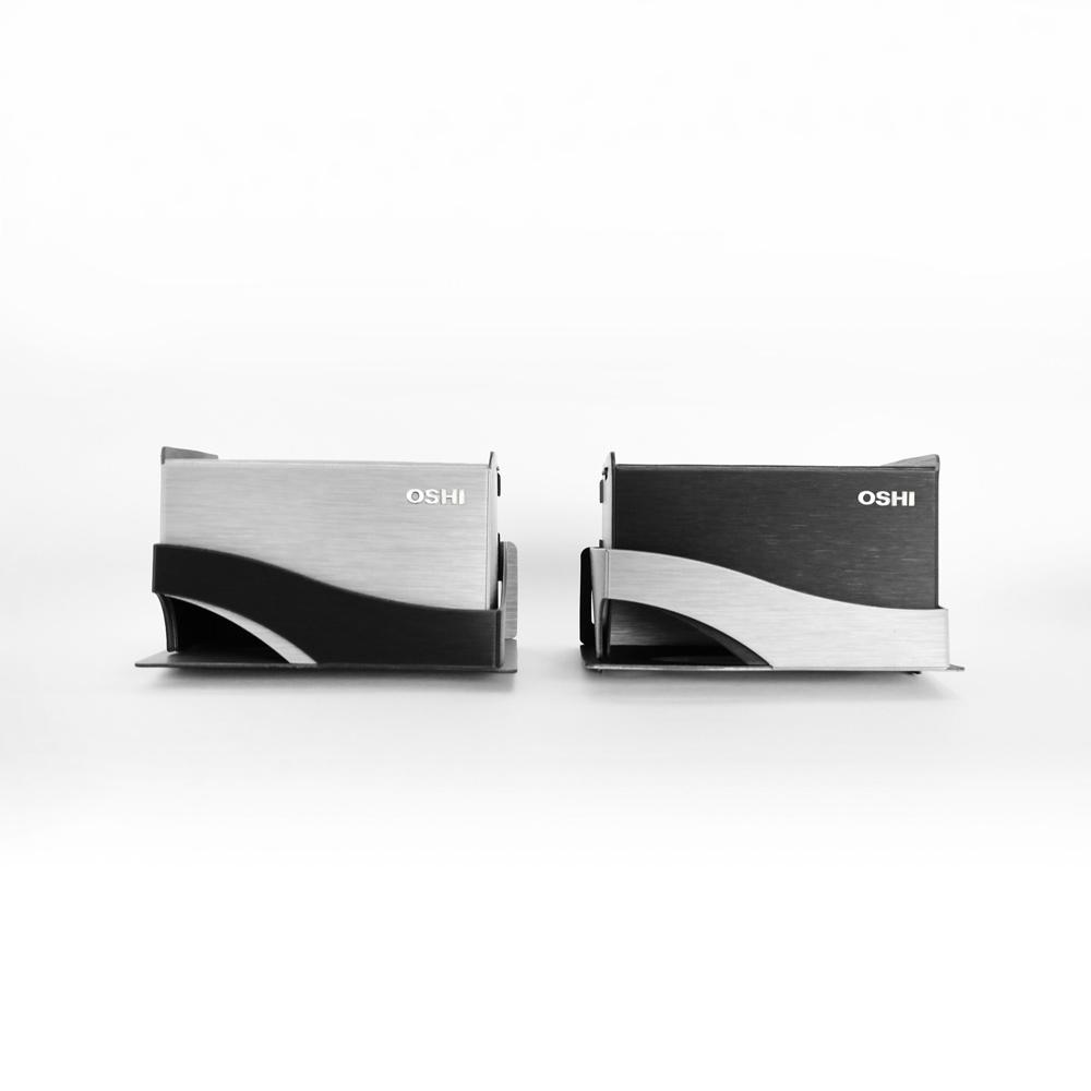 OSHI|BoxPlus+面紙盒架-銀黑色(小)