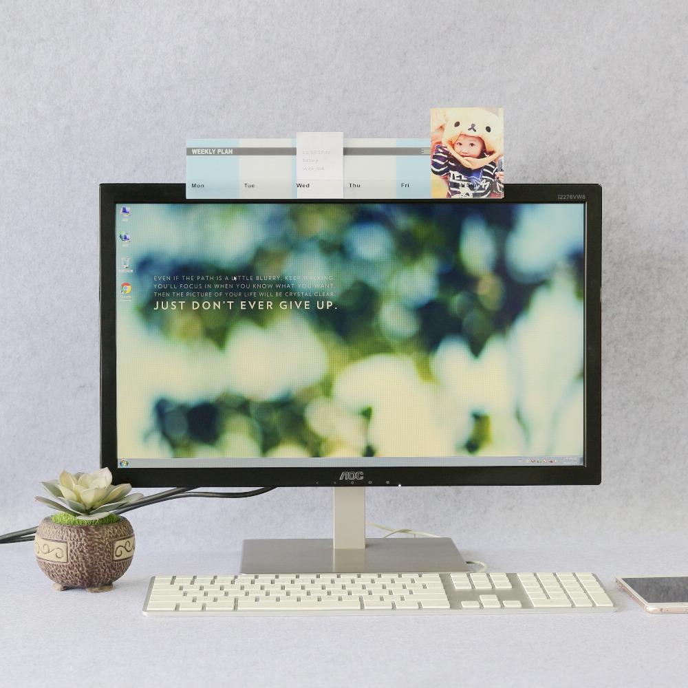 OSHI   螢幕備忘版-週計畫藍