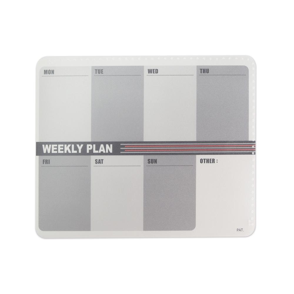 OSHI |  雙層滑鼠墊-週計劃(灰)