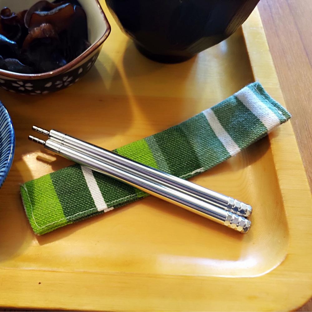 OSHI 轉轉伸縮筷-不鏽鋼環保筷