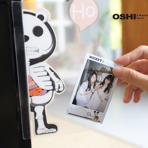 OSHI|螢幕側邊直立留言板-骷髏(單邊)