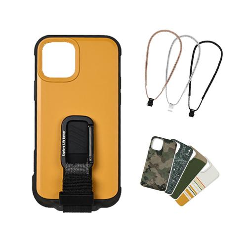 bitplay|iPhone 12 mini-WanderCase 探險家全配套組(風格掛繩)-黃