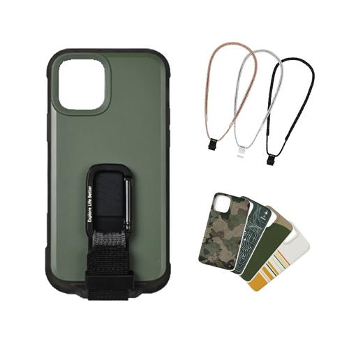 bitplay iPhone 12 mini-WanderCase 探險家全配套組(風格掛繩)-綠