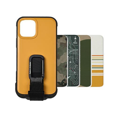 bitpla|iPhone 12&12 Pro-WanderCase 經典背蓋套組-黃