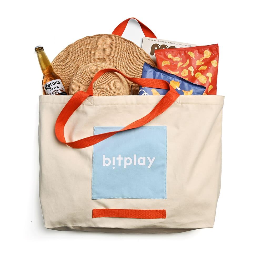 bitplay|超大容量托特包 夏日撞色款