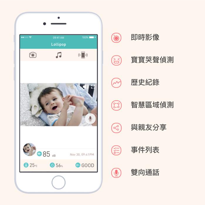 Lollipop|Smart Baby Camera智慧型幼兒監視器(土耳其藍)