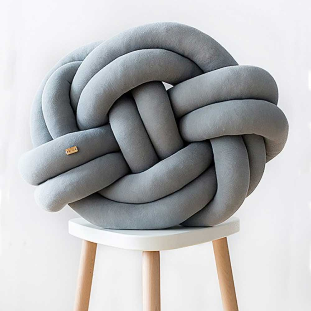 Wood'n'Wool|波蘭纏繞抱枕 - 經典款(質感灰)