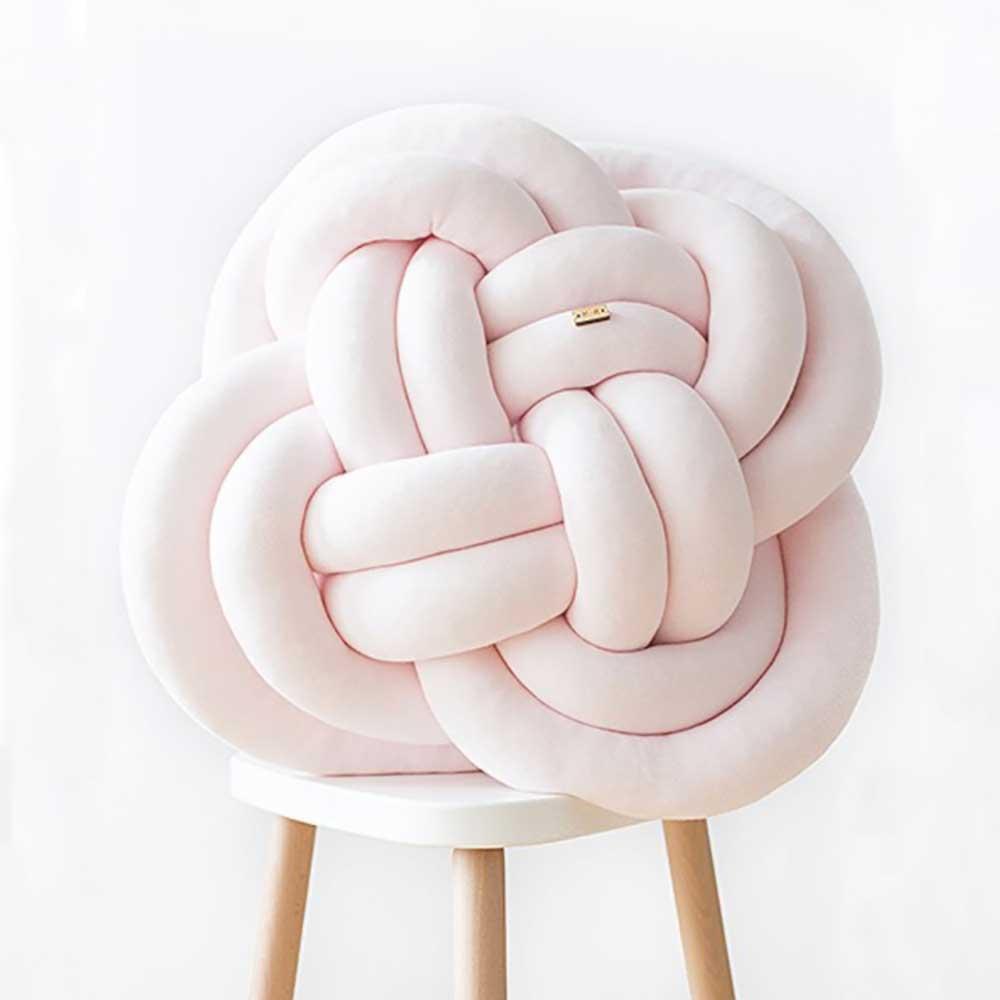 Wood'n'Wool|波蘭纏繞抱枕 - 花朵款(櫻花粉)