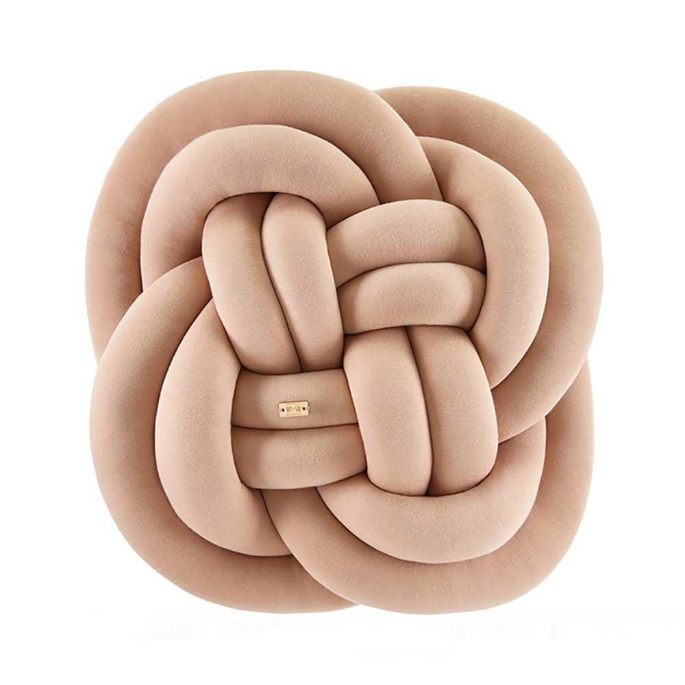 Wood'n'Wool|波蘭纏繞抱枕 - 花朵款(拿鐵咖)