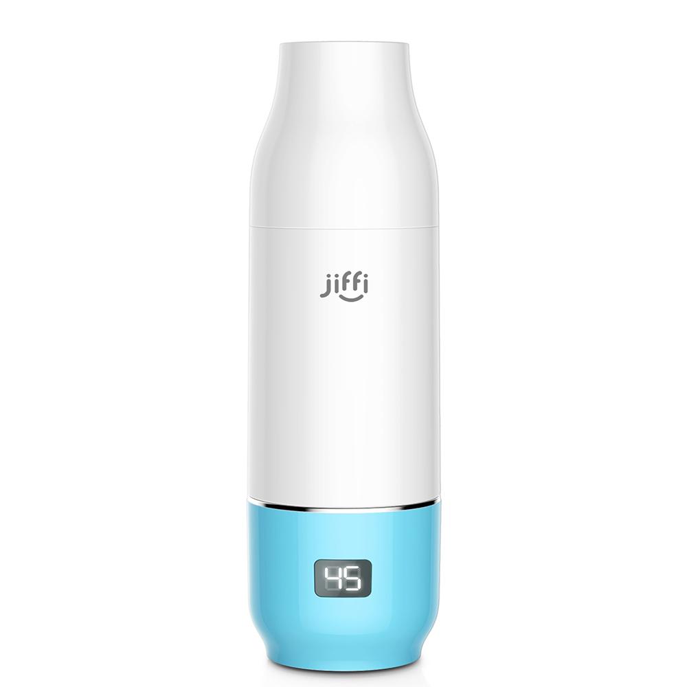美國Jiffi|可攜式智慧儲粉溫奶器 (藍)