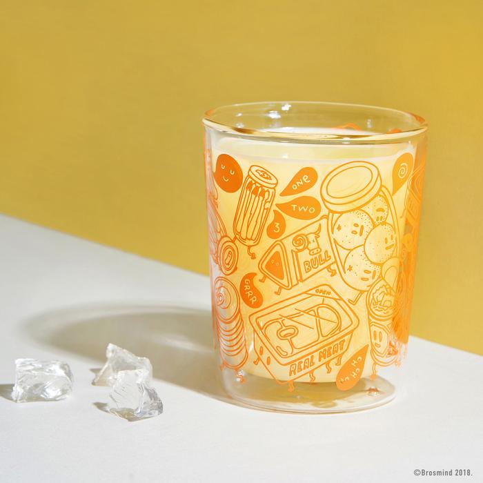 (複製)COZU|Brosmind 插畫雙層玻璃杯-藍