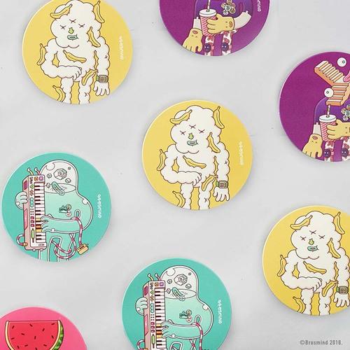 COZU|Brosmind 插畫陶瓷吸水杯墊-綠